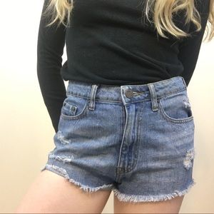 BDG High rise cheeky denim shorts